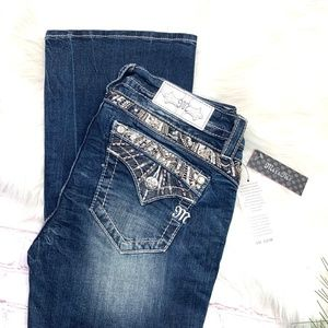 👖I•MISS ME•I Pretty Sun Ray Boot Jeans 26x33👖